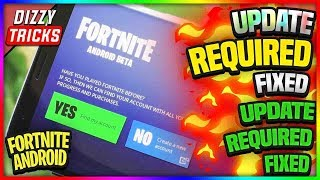 ⚡FORTNITE ANDROID⚡ UPDATE REQ FIXED INCOMPATIBLE FIXED LATEST WORKING 100%