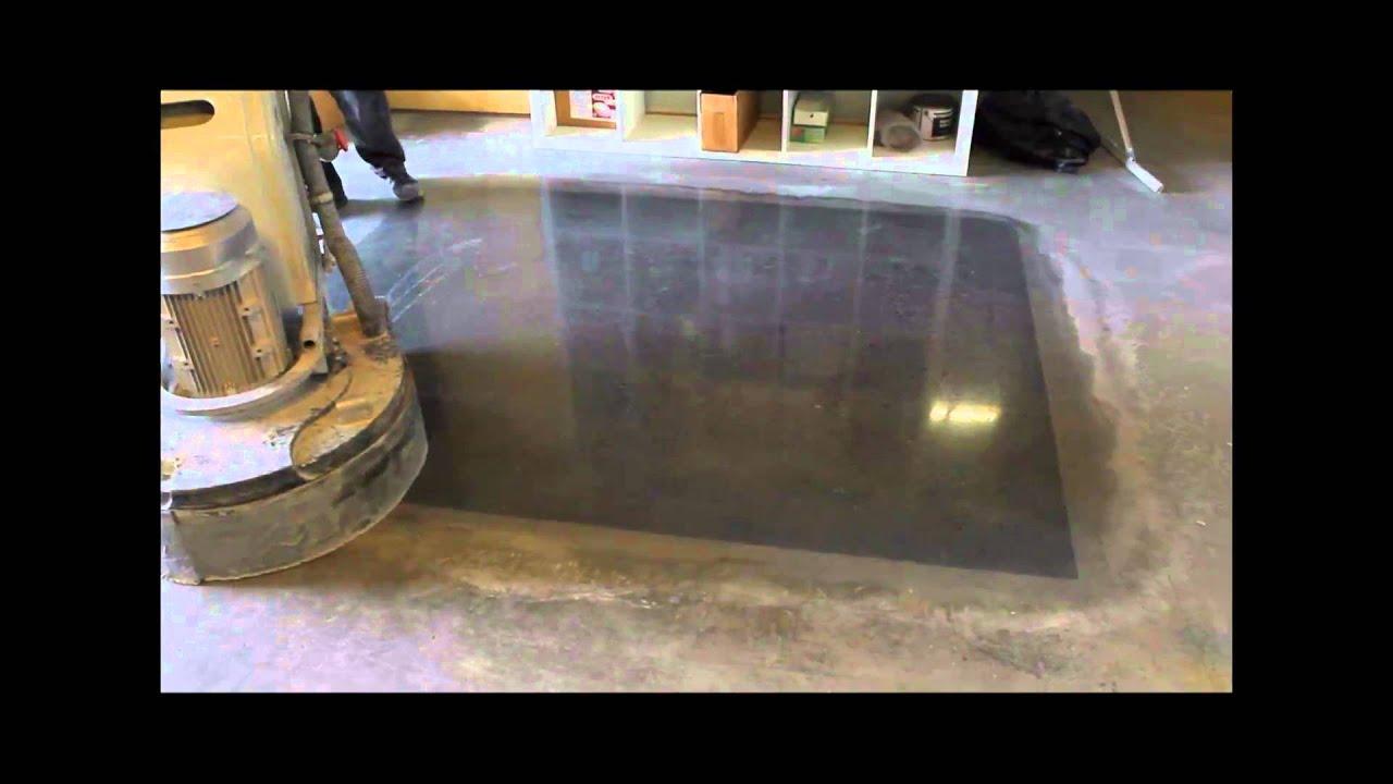Floorever super shine on old concrete youtube for How to make concrete floors shine