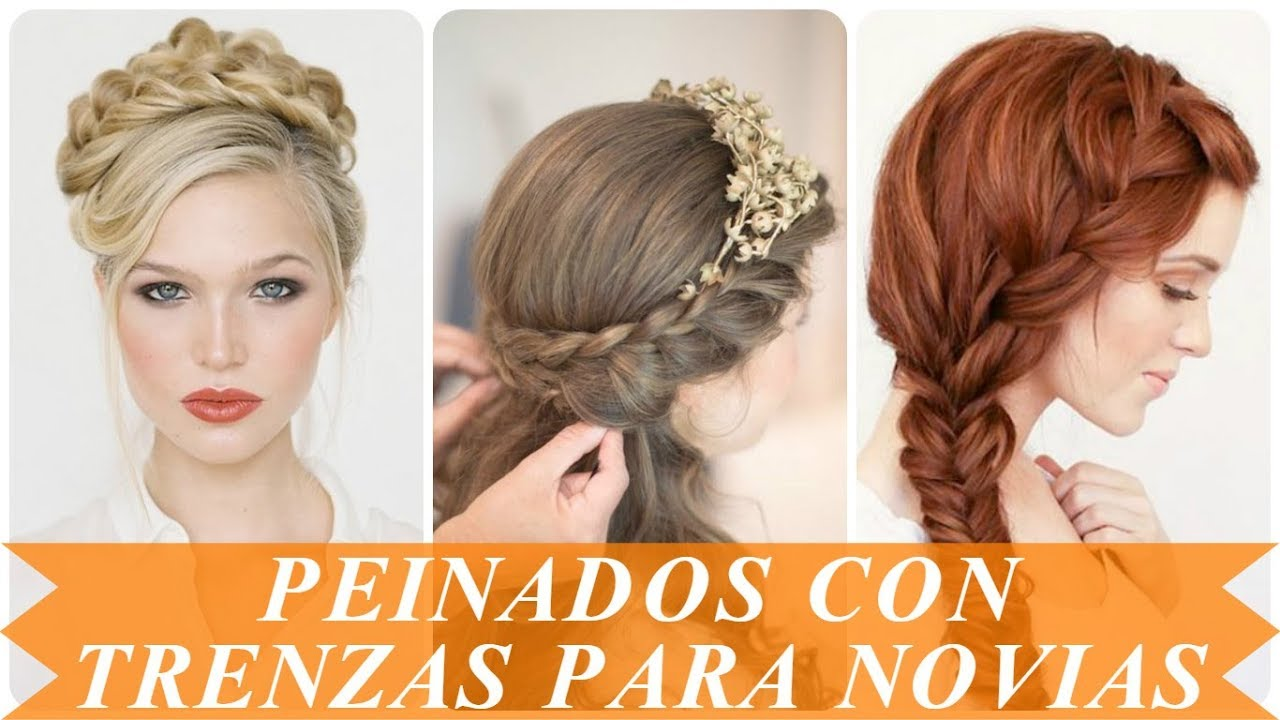 Modelos De Peinados De Trenzas Para Novias 2018 Youtube