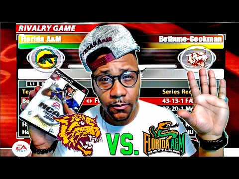 NCAA Football 2005 🏈  HD PS2  BethuneCookman vs. Florida A&M  Florida Classic FaceCam Gameplay!
