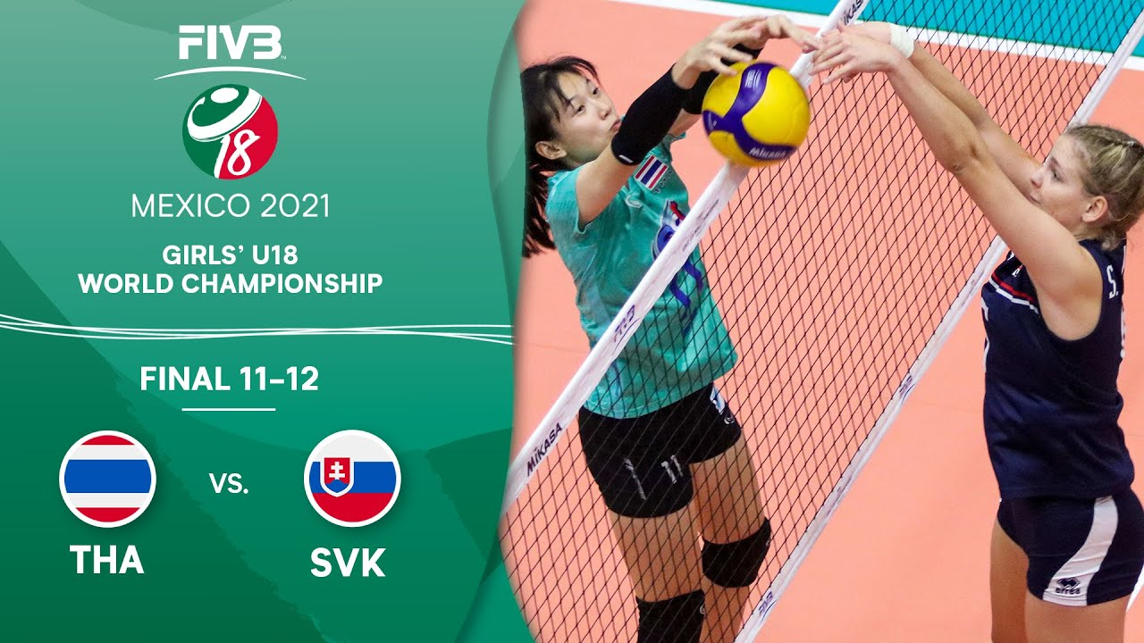 Download LIVE 🔴 THA vs. SVK - Final 11-12 | Girls U18 Volleyball World Champs 2021