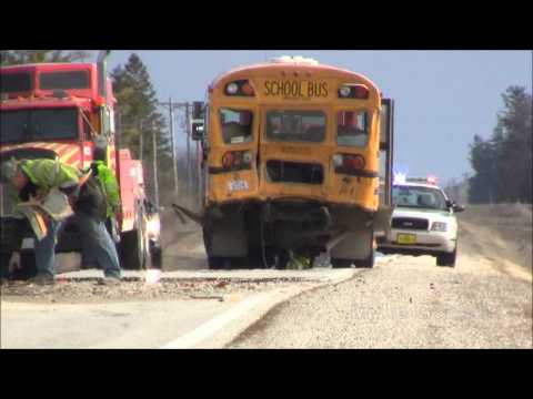 2013-04-16 Two School Buses Collide - Sumner, Iowa - Myke Goings - KMDG