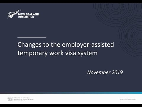 Changes to the employer-assisted temporary work visa system