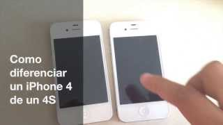 Como diferenciar un iPhone 4 de un 4S (Explicación)
