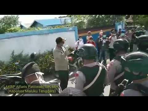 KAPOLRES MALRA MINTA POLISI TINDAK TEGAS WARGA YANG TIDAK PATUHI MAKLUMAT KAPOLRI SOAL COVID-19