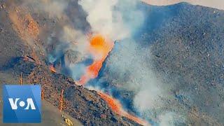 Video Shows Lava Erupting From La Palma Volcano