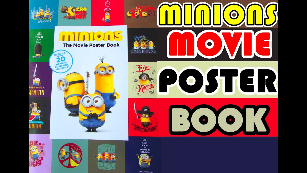 Minions Movie Poster Book | Review | Minions Movie Exclusive 2015 ...