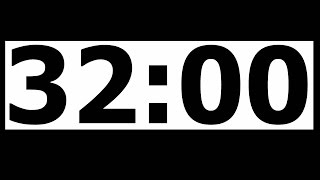 32 Minute Countdown Timer with Alarm