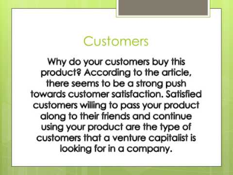 What do Venture Capitalist look for?