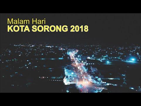Pesona Kota Sorong Malam hari 2018, Kota Cantik Terbesar di Papua Barat  Menuju Raja Ampat