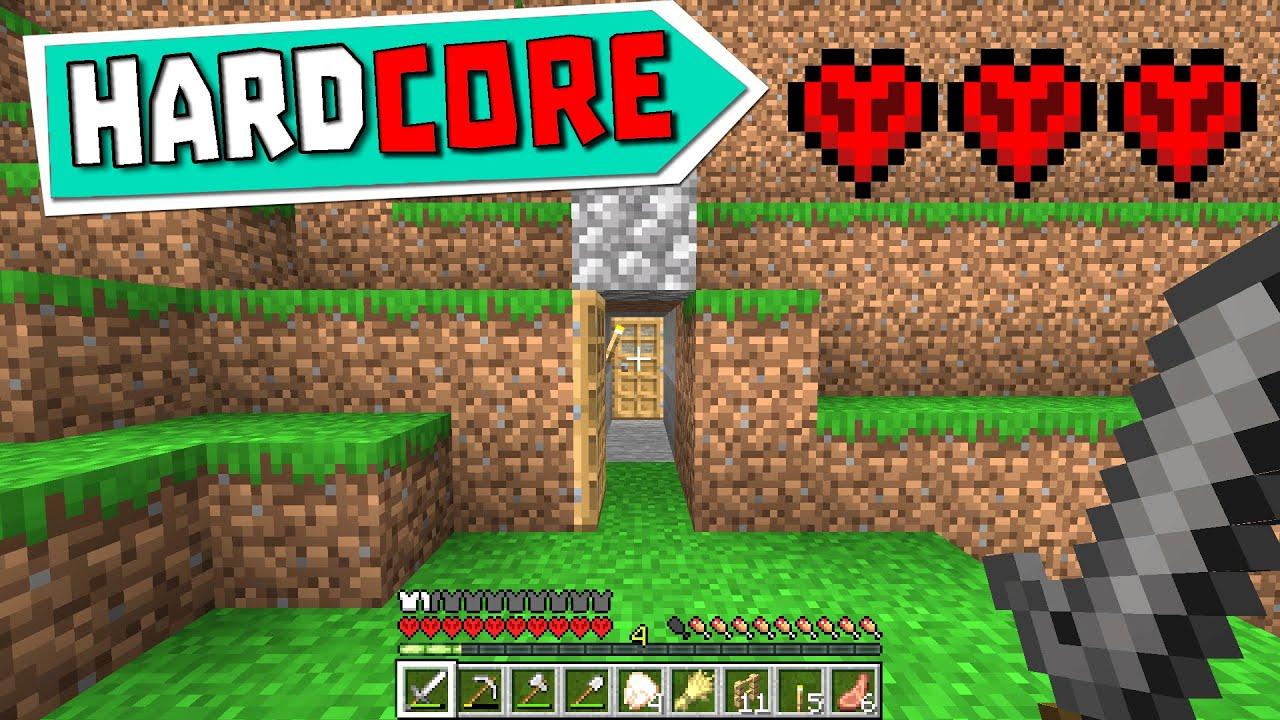 CİDDEN ZOR MU ? - Minecraft HARDCORE Survival Bölüm 1