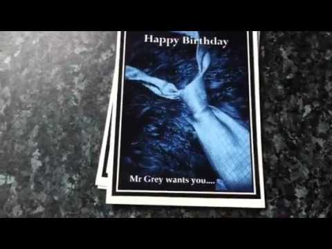 Fifty Shades Of Grey Film Book Personalised Birthday Cards Youtube