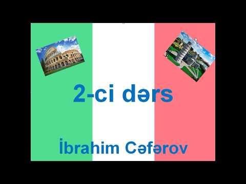 Italyan Dili 2-ci Dərs