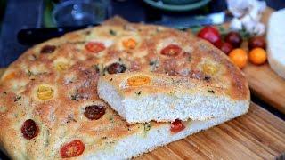 Focaccia With Tomatoes - Parmesan Foccacia - Garlic Focaccia Bread Recipe By Heghineh