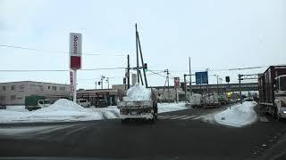 南郷南1号線 北郷中央線 [札幌市4K雪道ドライブ]:東北通交点~厚別通交点