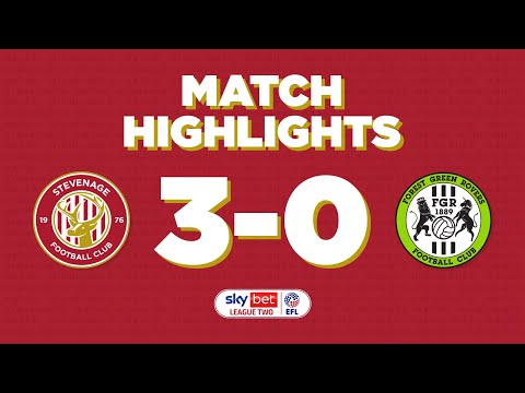 Stevenage Forest Green Goals And Highlights