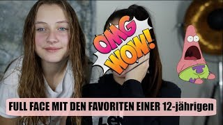 FULL FACE Make-up mit den Produkten meiner 12-jährigen SIS 👽