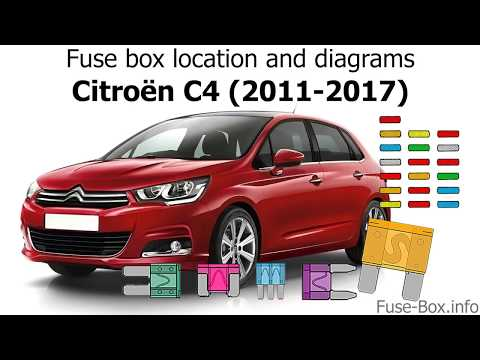 Fuse box location and diagrams: Citroen C4 (2011-2017) - YouTube