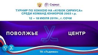 Хоккейный матч. 18.07.19. «Поволжье» - «Центр»