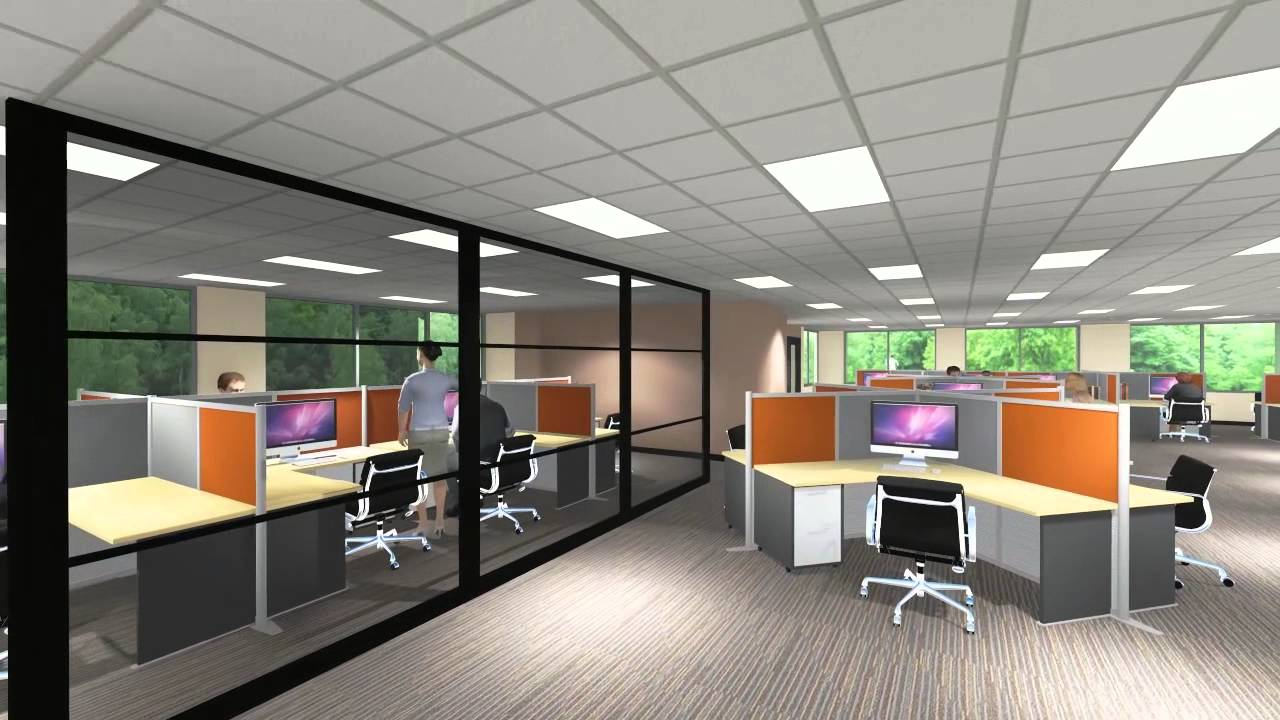 Lcp360 3d design office fly through youtube for Office design 3d