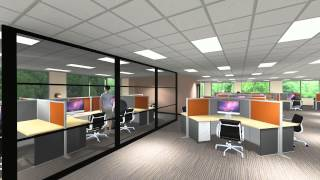 Lcp360 - 3d Design / Office Fly-through