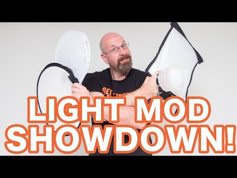 "Gary Fong Lightshpere Vs Fstoppers Flashdisc Vs Rogue Flashbender Vs Neewer 16"" Mini Round Softbox"