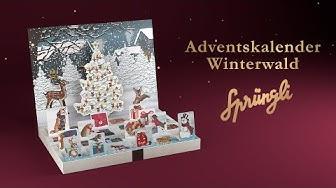 Confiserie Sprüngli – Adventskalender Winterwald mit Schweizer Schokolade