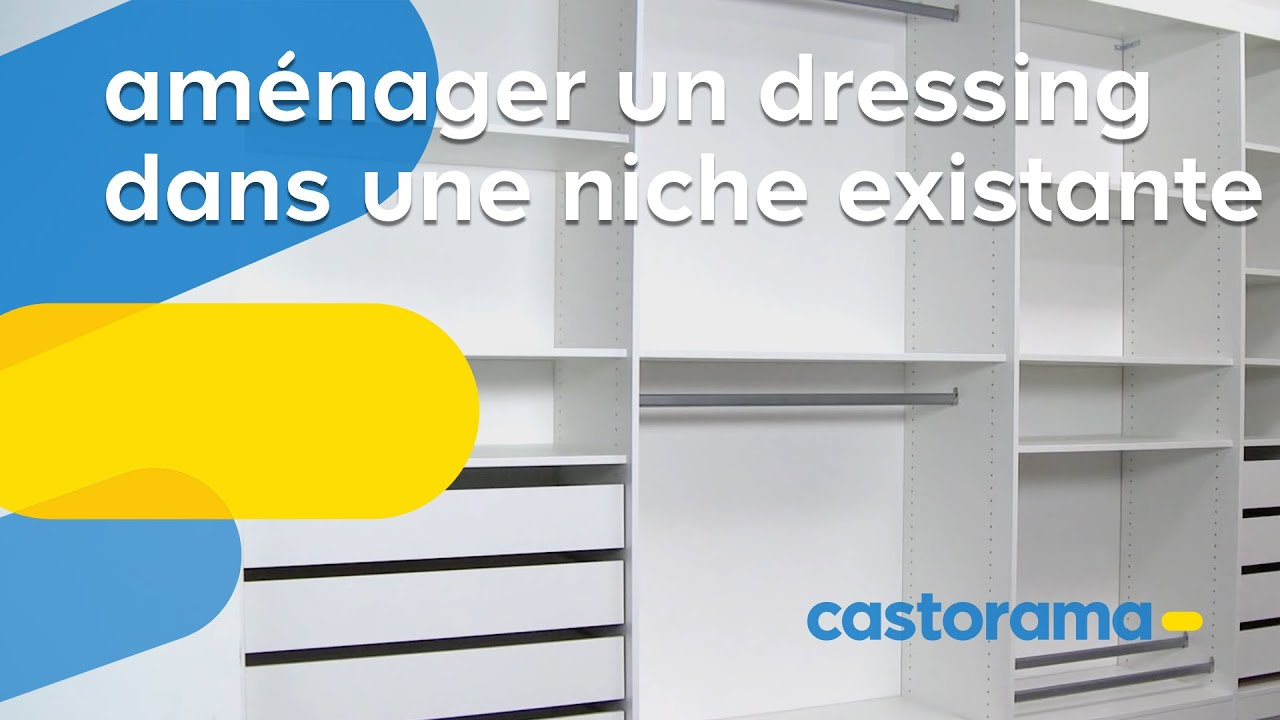 Am nager un dressing dans une niche existante castorama for Amenager un placard d entree