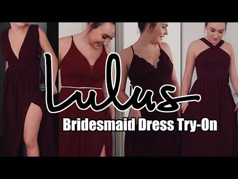 TRYING ON LULUS BRIDESMAID DRESSES
