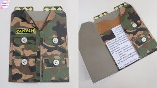 DIY Suit-Tuxedo Greeting Card Tutorial | How To Make Greetings | How To Craft - DIY Army Card