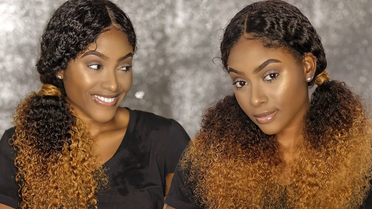 EASY QUICK Hairstyles on My Curly Lace Wig | PETITE-SUE DIVINITII