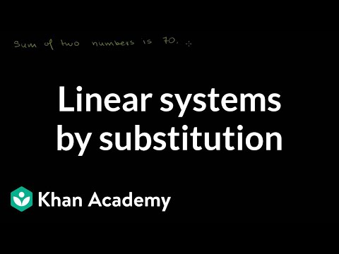 Solving linear systems by substitution | Algebra Basics | Khan Academy