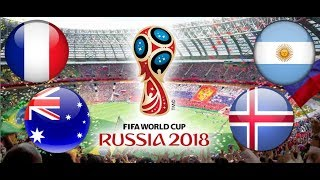 TURNIEJ PANINI FIFA WORLD CUP RUSSIA 2018 FRANCJA - AUSTRALIA , ARGENTYNA - ISLANDIA
