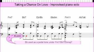 Taking a Chance On Love - improvised solo piano lesson