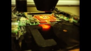 IR BGA reflow of a HP DV9000 AMD laptop motherboard with Nvidia graphics to fix a no video issue