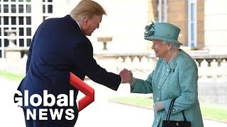 President Donald Trump visits with Queen Elizabeth II   FULL