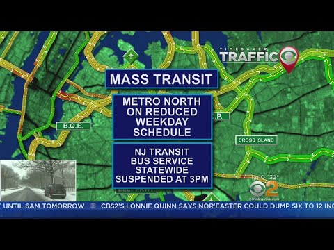 Storm Doing A Number On Mass Transit, Airports