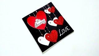 Beautiful Handmade card idea for ANNIVERSARY / LOVE   Handmade card idea   Tutorial