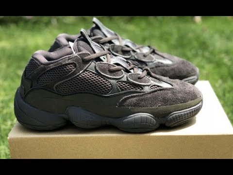 75069231411bf First Look  Adidas Yeezy Boost 500 Desert Rat Black review yeezykickss.net