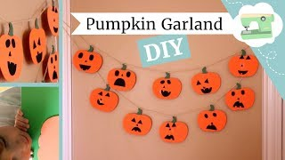 Download Mp3 Diy Jack-o-lantern Pumpkin Garland - Easy Halloween Craft For Kids!