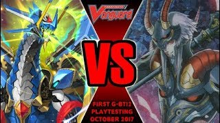 Zodiac Time Beast Vs Scharhrot - Cardfight Vanguard G-BT12 Playtesting October 2017