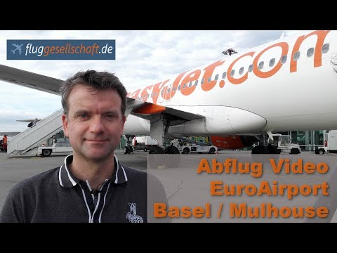 Takeoff EuroAirport mit Blick über Basel