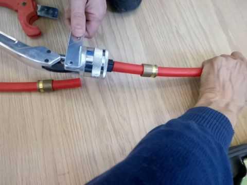 Ремонт трубы теплого пола