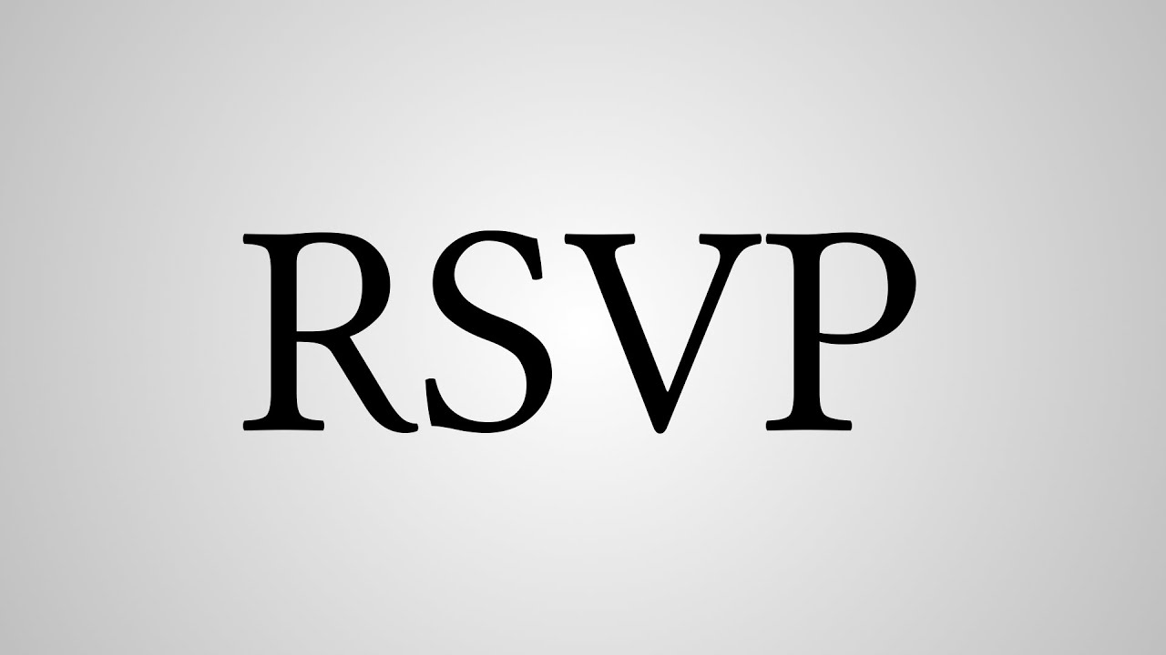 What does rsvp stand for youtube for Rsvp stand for on an invitation