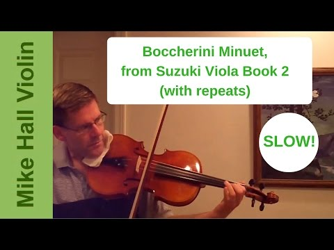 Boccherini Minuet - #12 from Suzuki Viola Book 2, slow play-along with all repeats
