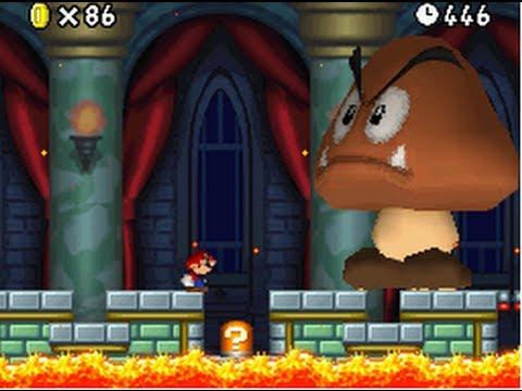 New Super Mario Bros. (DS) 100% Walkthrough World 4 (All Star Coins & Secret Exits)