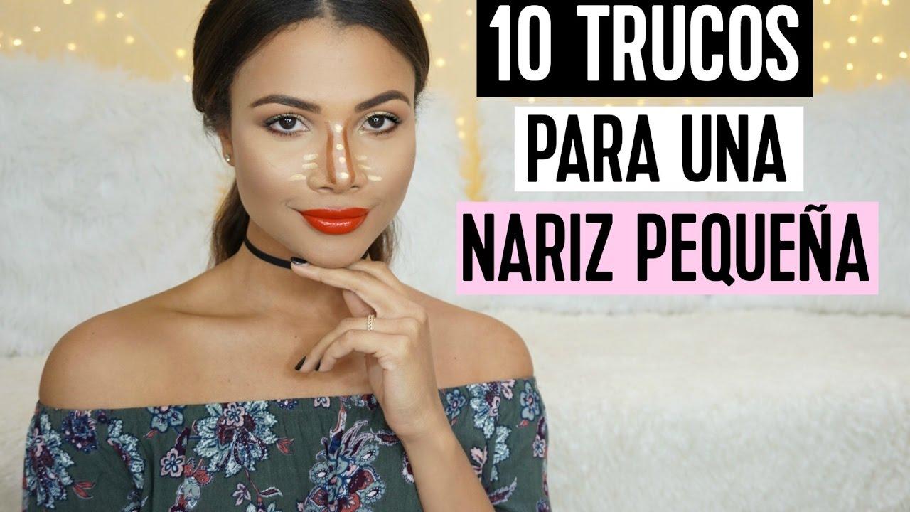 como adelgazar mi nariz con maquillaje