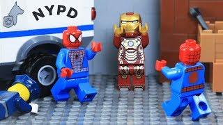 Lego Superhero Two Spiderman on Time Machine