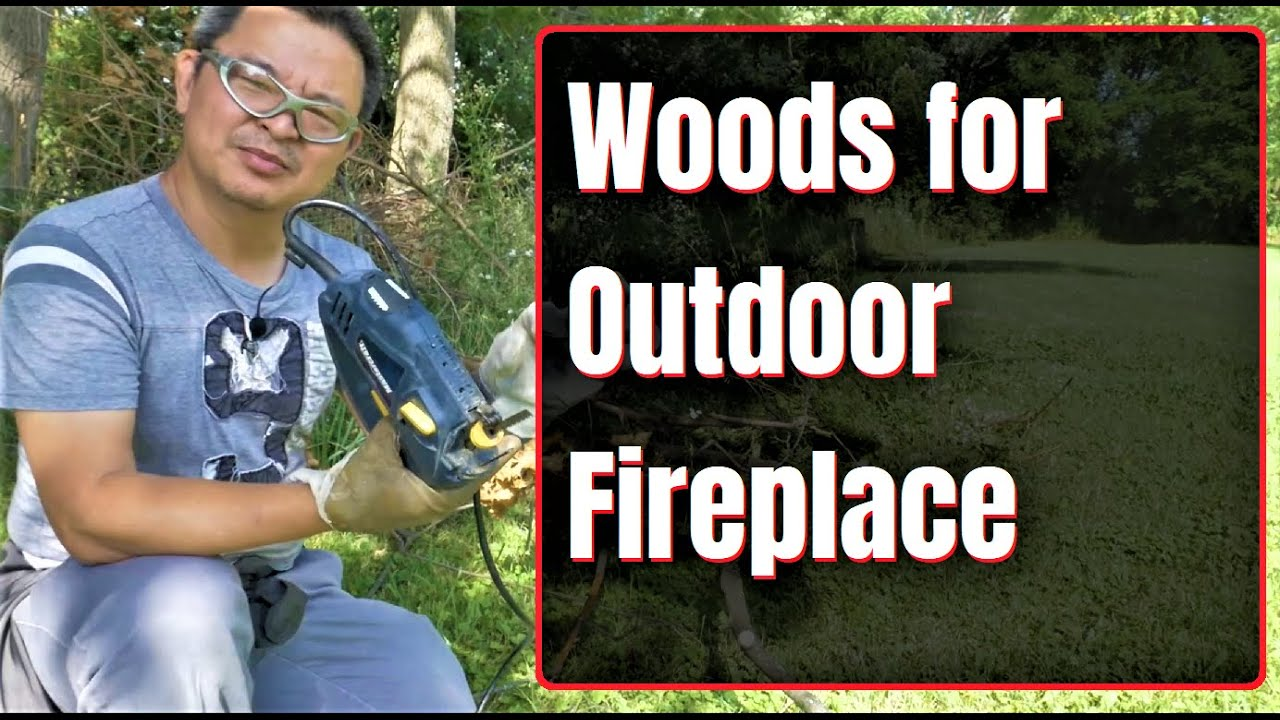 Cutting woods with my modified Jigsaw for my outdoor fireplace