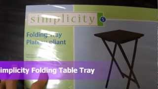 Review Simplicity Tv Tray Folding Table